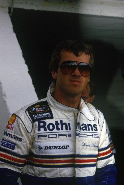 Le Mans, France. 10th - 11th June 1987. Kees Nierop (Porsche 961), retired, portrait. World Copyright: Murenbeeld/LAT Photographic ref: 87LM10.